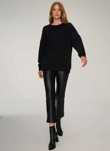 NGSTYLE Oversize Basic Sweatshirt Siyah